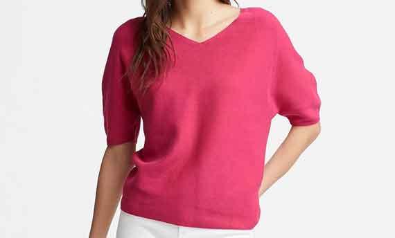 3Dコットンドルマンスリーブセーター(5分袖)2