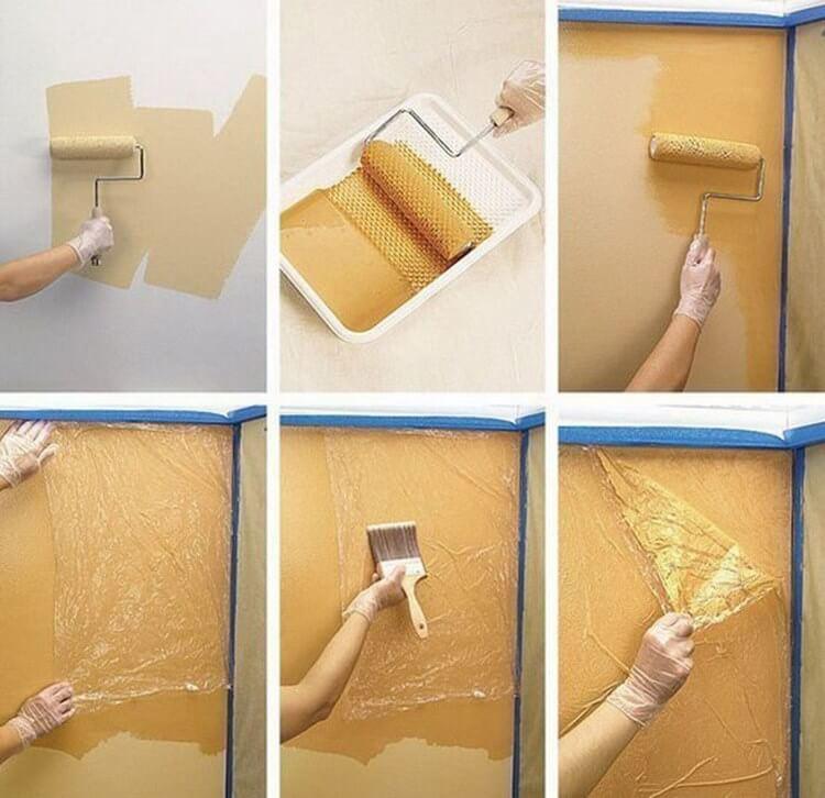 Как покрасить стены подручными средствами просто и дешево