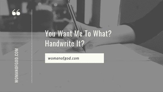 handwrite it