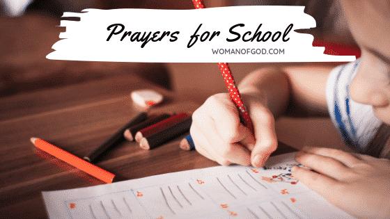 prayer for school