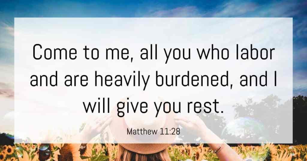matthew 11:28 bible verse