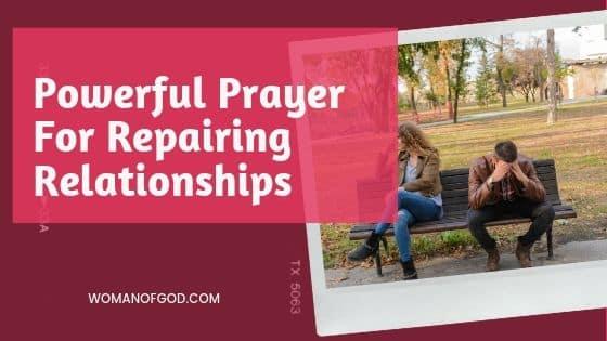 powerful prayer for repairing relationships
