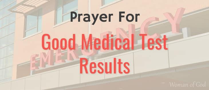 prayer for good medical test results