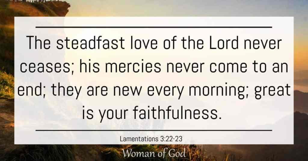 Lamentations 3:22-23 bible verse