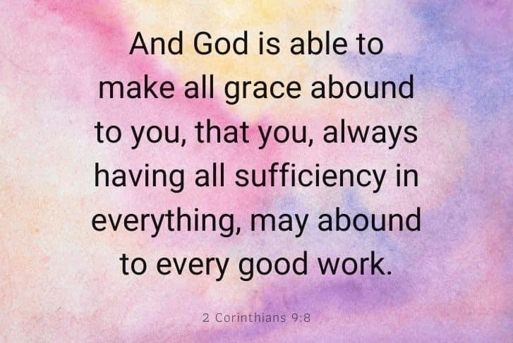 2 Corinthians 9:8 bible verse