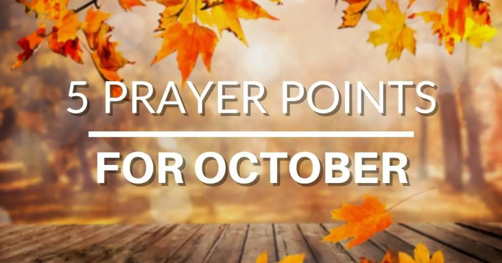 prayer points for october