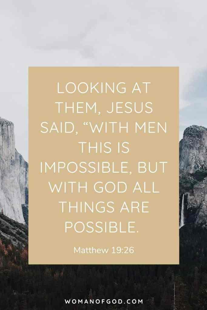Matthew 19:26 Bible Verse pin