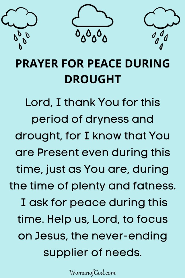 Prayer For Peace During Drought