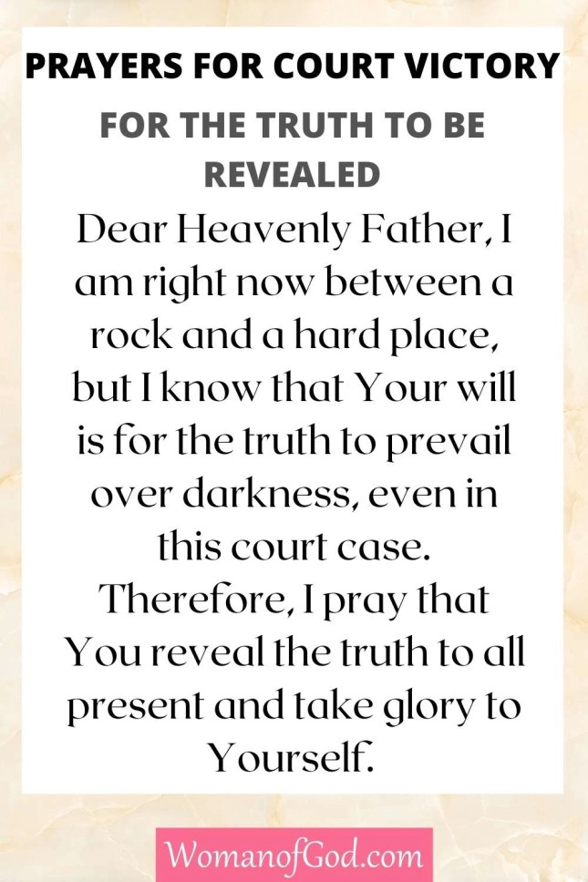 Prayer For The Truth To Be Revealed