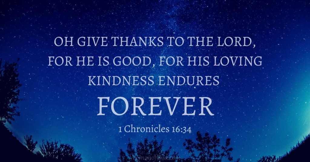Bible Verse 1 Chronicles 16:34