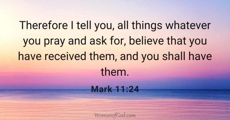 Bible Verse Mark 11:24