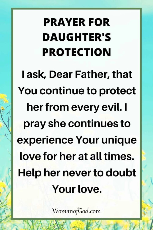 Prayer For Daughter's Protection