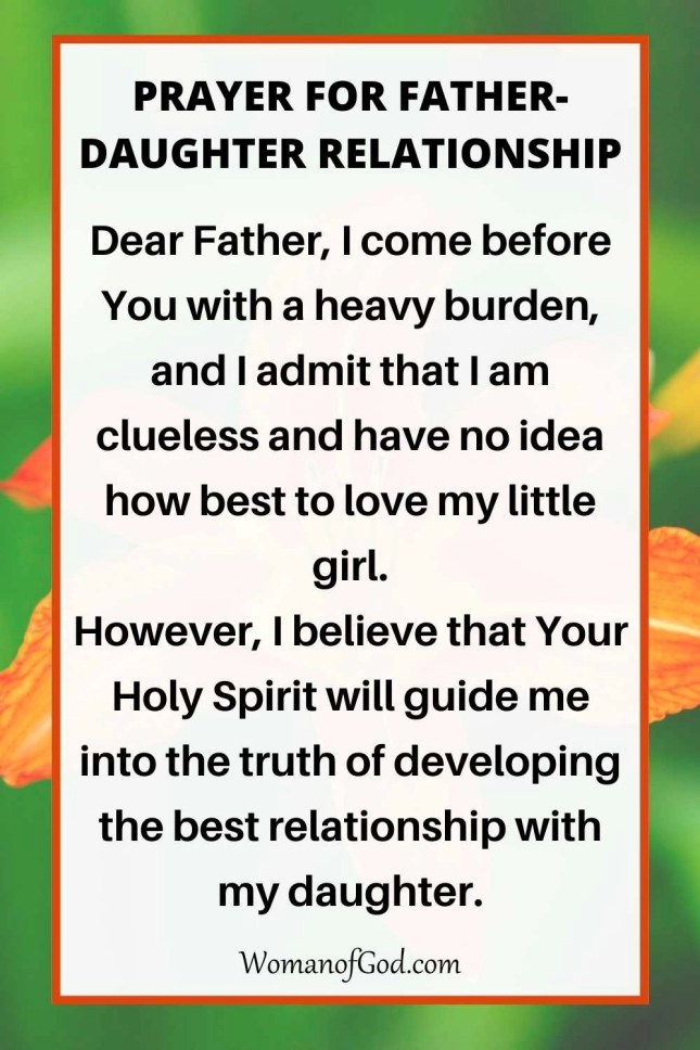 Prayer For Father-Daughter Relationship