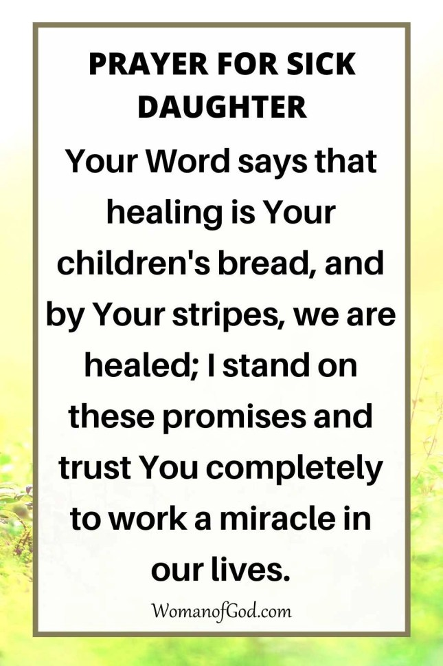 Prayer For Sick Daughter