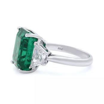 Rachel Koen Emerald Diamond Ring-3
