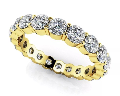 Zhannel Round Diamond Eternity Band