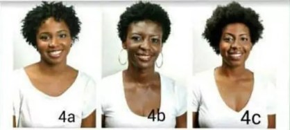 4a, 4b and 4c curly hair types