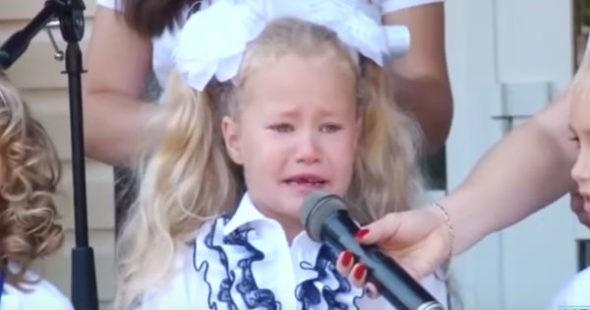 первоклассники в слезах