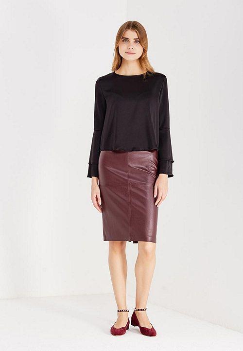 Популярные цвета и фасоны юбок из кожи С чем носить