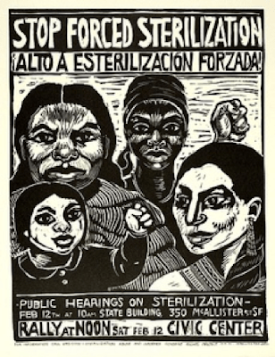 Poster from US 1970s women's campaign against forced sterilization