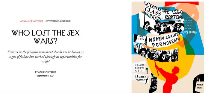 Screenshot of New Yorker article heading