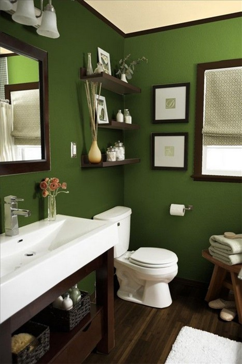Green And Brown Bathroom Decor