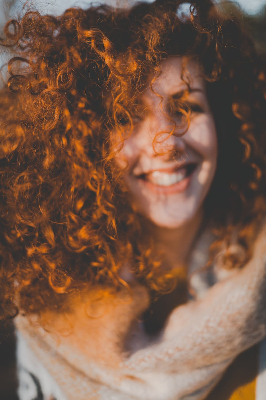 portrait of curly haired girl