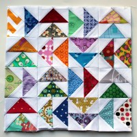 Flying Geese Paper Piecing Monday style