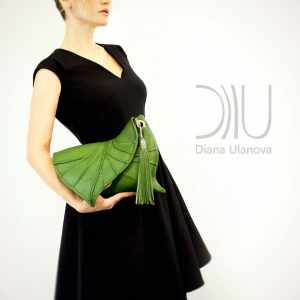 Designer Clutch Bags On Sale. Leaf Drop 4 by Diana Ulanova. Buy on women-bags.com