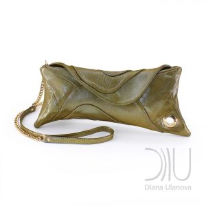 Designer Clutch Bags. Scroll Dark Green by Diana Ulanova. Buy on women-bags.com