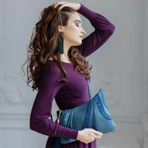 Shoulder Bag Designer. Sputnik Grey 1 by Diana Ulanova. Buy on women-bags.com