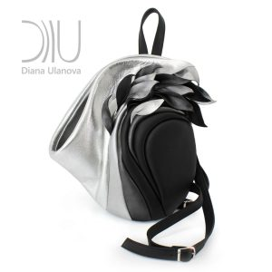 Designer Backpack. Savanna Black/Silver by Diana Ulanova. Buy on women-bags.com