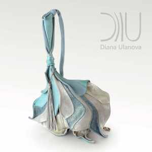 Designer Over The Shoulder Bags. Fleur De Lys - Blue/Silver by Diana Ulanova. Buy on women-bags.com