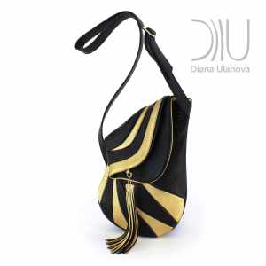 Designer Over The Shoulder Bags. Jockey Black/Gold by Diana Ulanova. Buy on women-bags.com