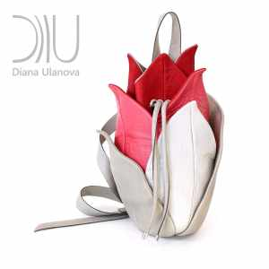 Designer Backpacks Women's. Lotus Beige/Red by Diana Ulanova. Buy on women-bags.com