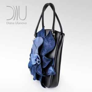 Womens Designer Bag. Magnolia Black/Blue 3 by Diana Ulanova. Buy on women-bags.com