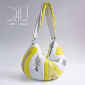 Designer Shoulder Bags. Medusa Yellow by Diana Ulanova. Buy on women-bags.com