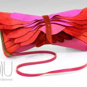Designer Clutch Bag. Totem Clutch Pink by Diana Ulanova. Buy on women-bags.com