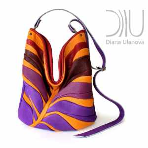 Over The Shoulder Bags Designer. Palmetto Purple/Orange by Diana Ulanova. Buy on women-bags.com
