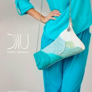Clutch Designer Bags. Wave by Diana Ulanova. Buy on women-bags.com