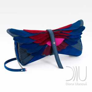 Clutch Designer Bags. Totem Clutch Blue by Diana Ulanova. Buy on women-bags.com