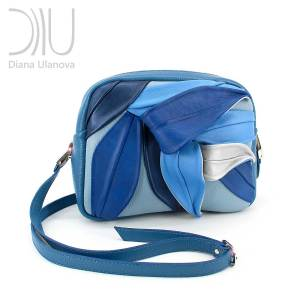 Designer Handbag Small. Bamboo_Mini Blue by Diana Ulanova. Buy on women-bags.com