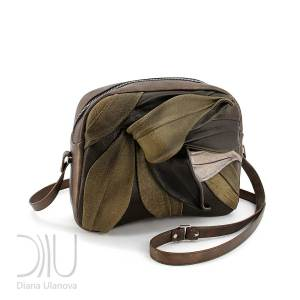 Designer Mini Bags. Bamboo_Mini Brown Green by Diana Ulanova. Buy on women-bags.com