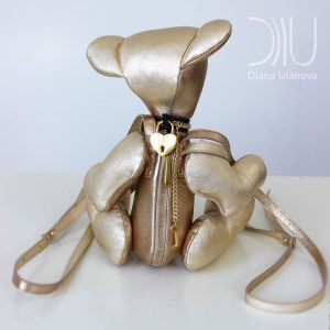 High-End Backpack. Bouquet Gold 1 by Diana Ulanova. Buy on women-bags.com