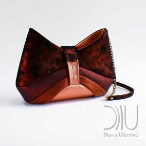 Designer Over Shoulder Bags. Bow Dark Orange by Diana Ulanova. Buy on women-bags.com