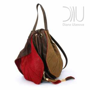 Designer Leather Backpacks Women. Tulip Brown by Diana Ulanova. Buy on women-bags.com