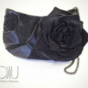 Over The Shoulder Bags Designer. Rosette Black by Diana Ulanova. Buy on women-bags.com