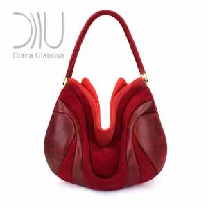 Shoulder Designer Bags. Prana Red/Burgundy by Diana Ulanova. Buy on women-bags.com