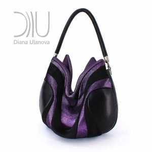 Over The Shoulder Bags Designer. Prana Purple/Black by Diana Ulanova. Buy on women-bags.com