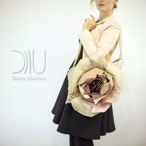 Designer Over Shoulder Bags. Royal Rose White by Diana Ulanova. Buy on women-bags.com